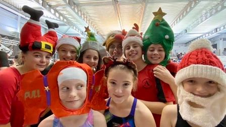 Dunmow Atlantis swimmers at the 2019 Christmas Cracker meet