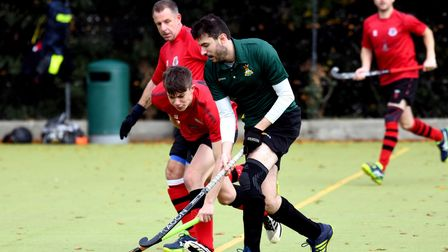 Ely City Hockey Club's men in action against Wisbech Town