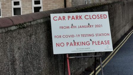 Tanner Street car park in Thetford will be closed from early January and will see a temporary testing building constructed...