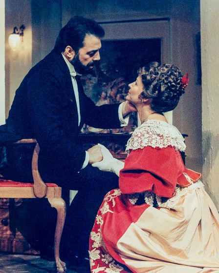 Peter and Amanda Howell in a production of An Ideal Husband .