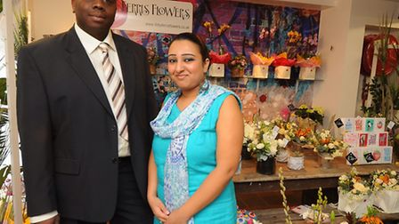 Managing directors Thomas and Kindi Tembo pictured on the day Boutique Fusions opened in Bedford Str