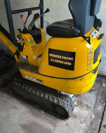 Premier Paving and Landscapeshave had three trailers and a mini digger stolen
