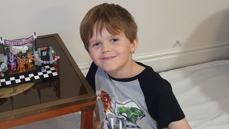 Alfie Gibson, 10, from Cromer, was diagnosed with an aggressive form of leukemia on Christmas Day.