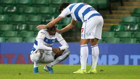 Bright Osayi-Samuel (left) during the 1-1 draw with Norwich.
