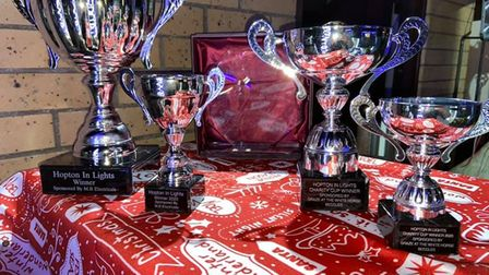 trophies for hopton in lights