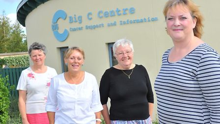 Nikki Morris(right) with support staff Daphne Skinner, Anne Templeman and Marion Andrews at the Big