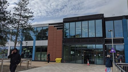 The new entrance to Colchester Hospital. Picture: HOLLY HUME
