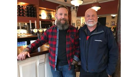 Geoff Bligh and Phil River of Hank's Pub and Food in Ipswich