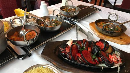 Dishes at the Maharani in Norwich Road, Ipswich, which is offering delivery and collection