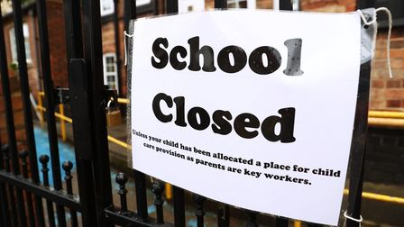 Signage outside a closed West Bridgford Infants School in Nottingham. Photograp: Tim Goode/PA.