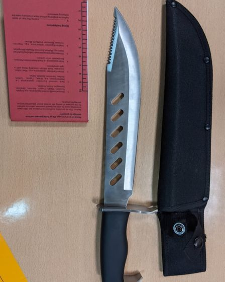 Knife found discarded after police chase