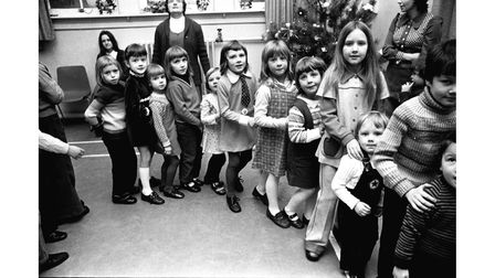 A Christmas and New Year party for children at Westleton in January 1974