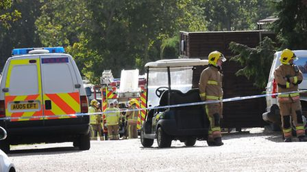 The scene in 2012 of the chemical incident at Woodland Holiday Park, Trimingham. PHOTO: ANTONY KELLY