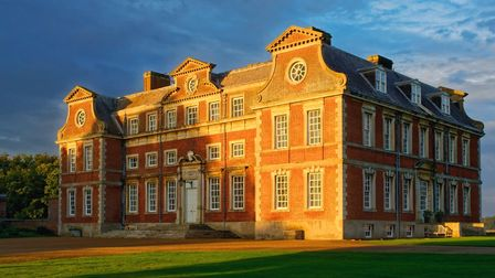 exterior in sunshine of stately home
