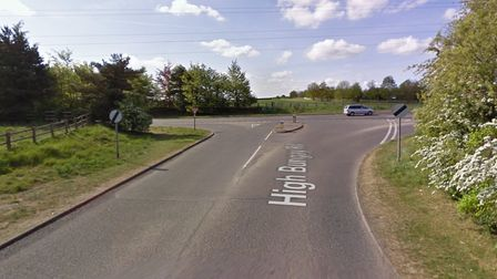 High Bungay Road, at the junction with the A146.