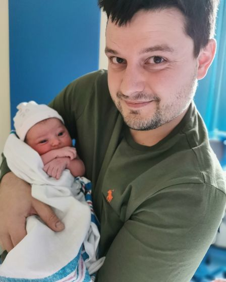 New dadLee Barton with his baby girl, Daisy