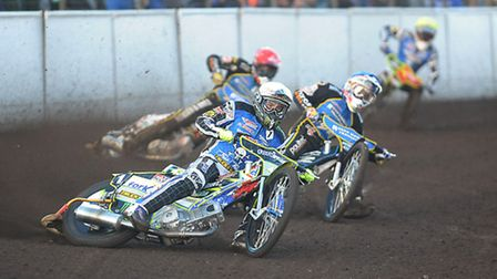 Darcy Ward in action for the Poole Pirates at Lynn last week. Picture: IAN BURT