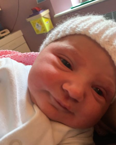 Baby Cora Mae Barrett is one of the first babies to be born this year