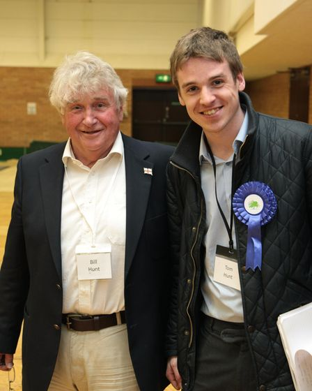 Father and son councillors Bill and Tom Hunt