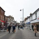 Felixstowe high street at 1.30pm on the first day of the new Tier 2 coronavirus restrictions. Pictur