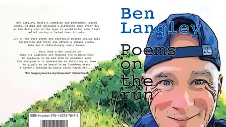 The book cover for Ben Langley Poems on the run.