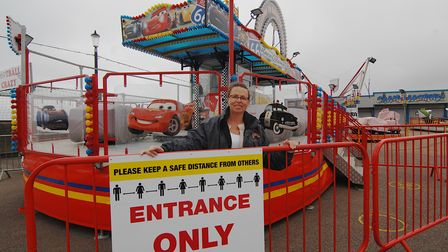 Colleen Roper, whose family has run Rainbow Park Amusements at Hunstanton for 50 years Picture: Chr