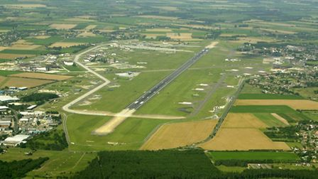 RAF Mildenhall from above. PICTURE: ANDY ABBOTT
