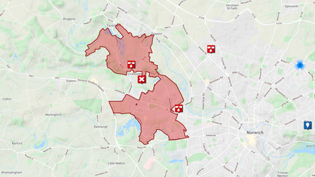 Some residents in New Costessey and the surrounding areas may have no water after a main burst in the area.