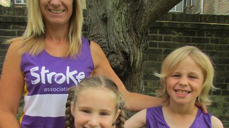 FAMILY AFFAIR: Six-year-old Lily Dewbery, centre, will be taking part in her own mini version of the
