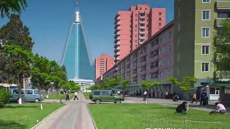 Screen grab from Rob Whitworth's time-lapse video of Pyongyang. Photo: Rob Whitworth