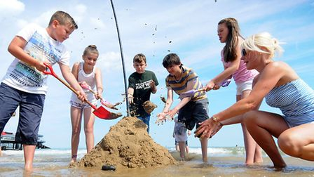 Cromer Carnival children's week. Tide fight competition.Picture: ANTONY KELLY