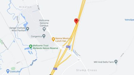 A man died after a collision on the A11 near Stump Cross