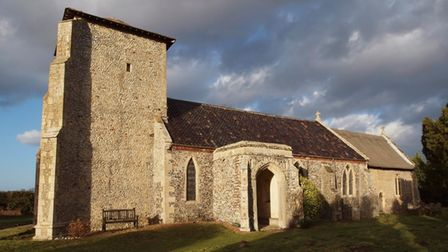 All Saints Church at Crostwight in north-west Norfolk, which has been granted money for urgently-need repairs.