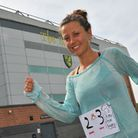 Amy Hughes comes to Norwich as she runs 53 marathons in 53 days.Picture by SIMON FINLAY.