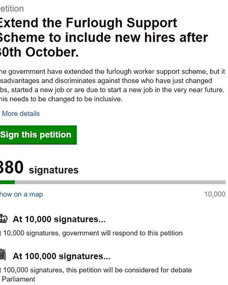 The petition has already had 880 signatures.
