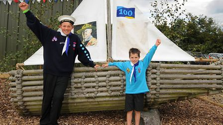 1st Buxton Lamas Sea Scout Group celebrates their 100th anniversary. Left, Jacob Wheal, 12, and his