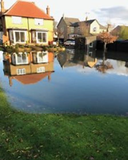 Flooding in Upwell Road, March