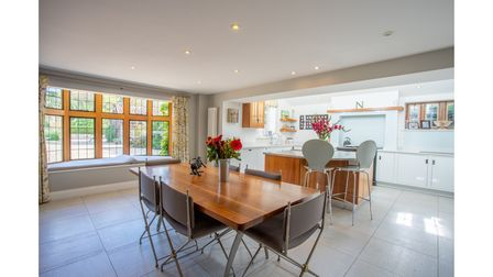 An interior at Jermyns Farm, Capel St Mary, which is on the market