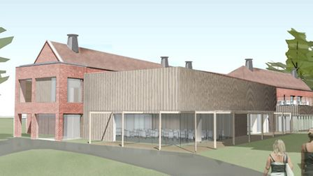 An artist's impression of the Gresham's School Sixth Form block which would cost just over £4.4m.
