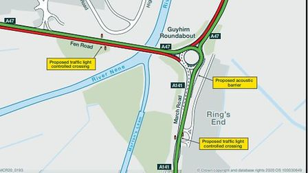 Site of the proposed works at Guyhirn - traffic from all directions face delays and, at times, diversions