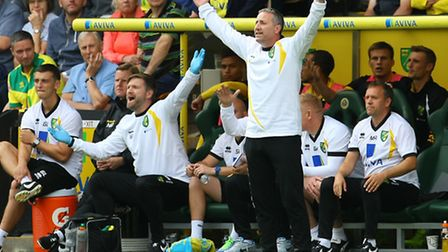 Norwich Manager Neil Adams during the Sky Bet Championship match at Carrow Road, NorwichPicture by P
