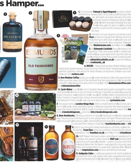 Edmunds Cocktails featured in GQ Magazine.