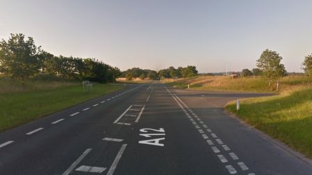 The A12 at Henstead in Suffolk