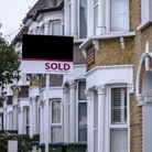 British houses with sold sign