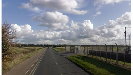 The A1101 has been closed at Beck Row after a serious one-car crash near to RAF Mildenhall.