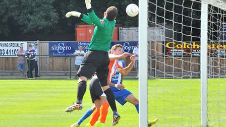 Wroxham V Ware. Wroxham goal.Picture by SIMON FINLAY.