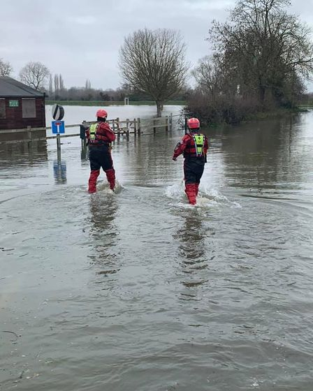 Flooding presented a challenge for Cambs fire crews