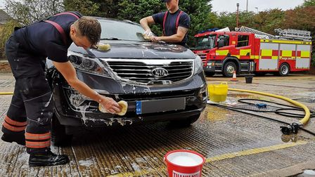 Charity car wash always part of the year for firefighters - even during a pandemic.