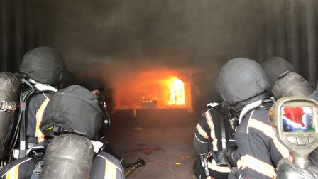 One of many challenging blazes the fire service in Cambridgeshire was called upon to deal with in 2020.