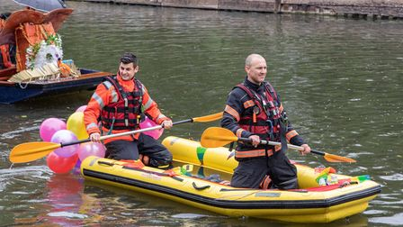 Looks fun, is fun and good for showing community support. A trip down the river - you can;t beat it!